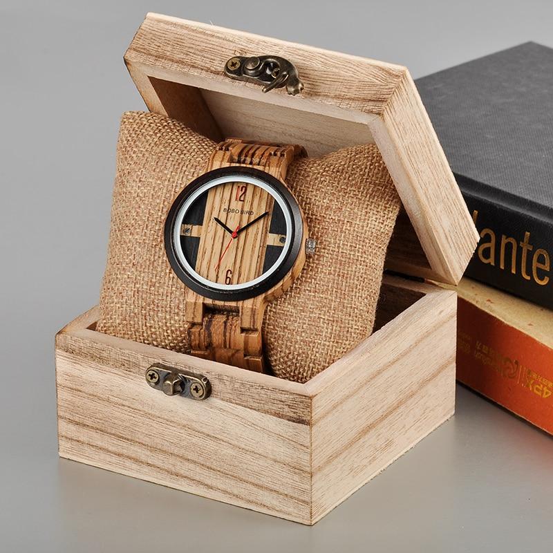 BOBO BIRD Wood Watch Mehed Relogio Masculino Luksuslik disain Quartz - Meeste käekellad - Foto 3