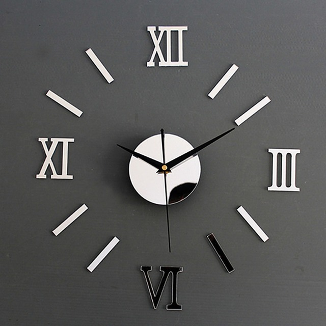 Arcylic Diy Wall Clock Modern Design 1AA Battery 3D Wall Clocks Reloj De  Pared Saat Horloge