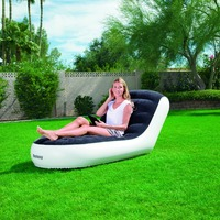 High quality Outdoor inflatable sofa bed sofa inflatable adult household portable thickened flocking sofa Living Room Sofa