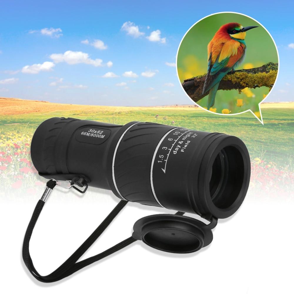 30x 52 Dual Focus Zoom Optic Lens Monocular Telescope Binoculars Multi Coating Lenses Dual Focus Optic Lens Day Night Vision Hot  цены