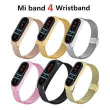 Mi Band 3 4 Wrist Strap Metal Screwless Stainless Steel For Xiaomi Mi Band 4 3 Strap Bracelet Miband 4 3 Wristbands Pulseira недорого