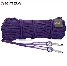 XINDA 10M 10.5mm Diameter 25KN Professional Rock Climbing Rope Rappelling High Strength Cord Safety Survival