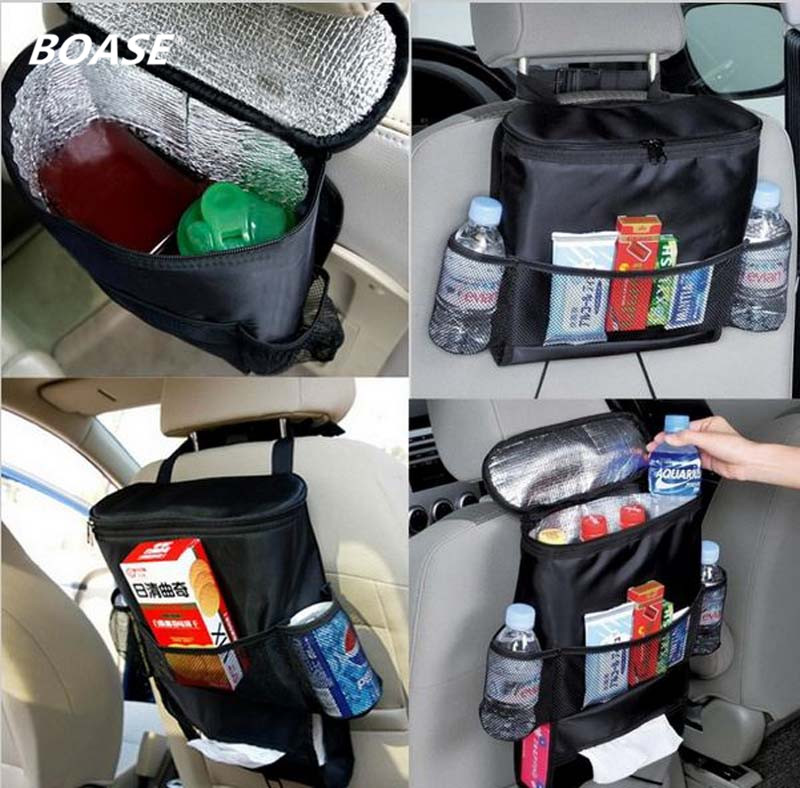 Insulated Auto Interior Bags Car Back Seat Organizer Drink Food Storage Cover Container Automobiles styling Accessories Supplies