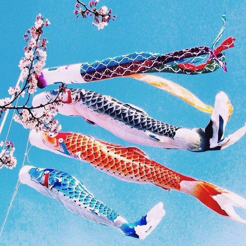 Новый стиль 40/70/100 см Koi Nobori Карп ветер носки Koinobori красочный ФЛАГ РЫБЫ Подвесной Настенный Декор для дома #265902
