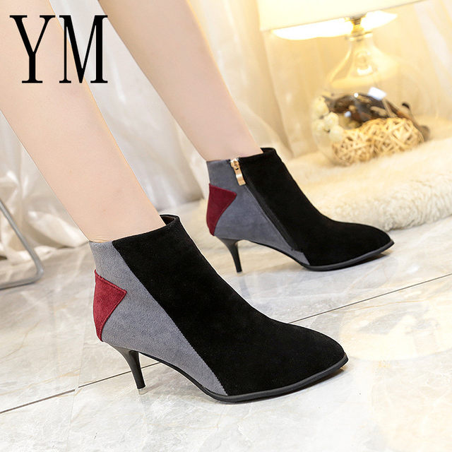 2018 Flock New High Heel Lady Casual black/Red Women Sneakers Leisure Platform Shoes Breathable Height Increasing Shoes 45