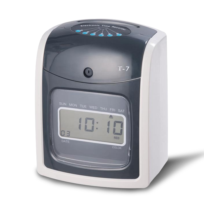 Office Use Employee Electronic Punch Card Clock Paper Time Attendace Clock Ribbon DIY Kit Digital Time Clock