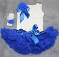 baby clothes infant baby tutu skirts 3 piece set Head flower + vest + skirt  newborn photography props