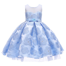 2019 new girl elegant bow dress pettiskirt fashion wedding princess childrens clothing