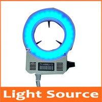 Pcs Azul Lâmpadas LED Microscópio de Luz 63 60mm de Diâmetro Anel Lâmpada Fonte de Luz Da Lâmpada para Biológico Microscópio Estéreo 90 -240 v