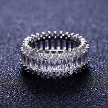 Топ Новое обручальное кольцо женское кубическое циркониевое блестящее элегантное цветочное кольцо для женщин