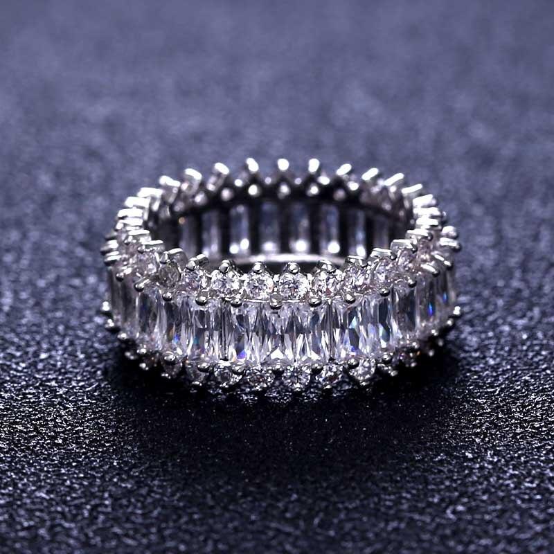 Prix pour Marque nouvelle bague de fiançailles femmes cubique zircon glitter élégant bague fleur pour les femmes