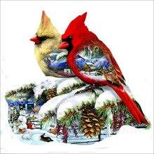 Diy 5d diamond dimond painting Two birds full square/round drill animals embroidery rhinestone kit