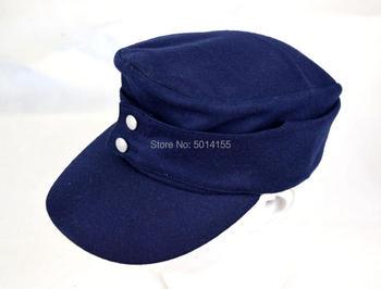 Replika ii wojny światowej niemieckiego Luftwaffe M43 dziedzinie Panzer czapka z wełny kapelusz niebieski tanie i dobre opinie Parasolka Stałe