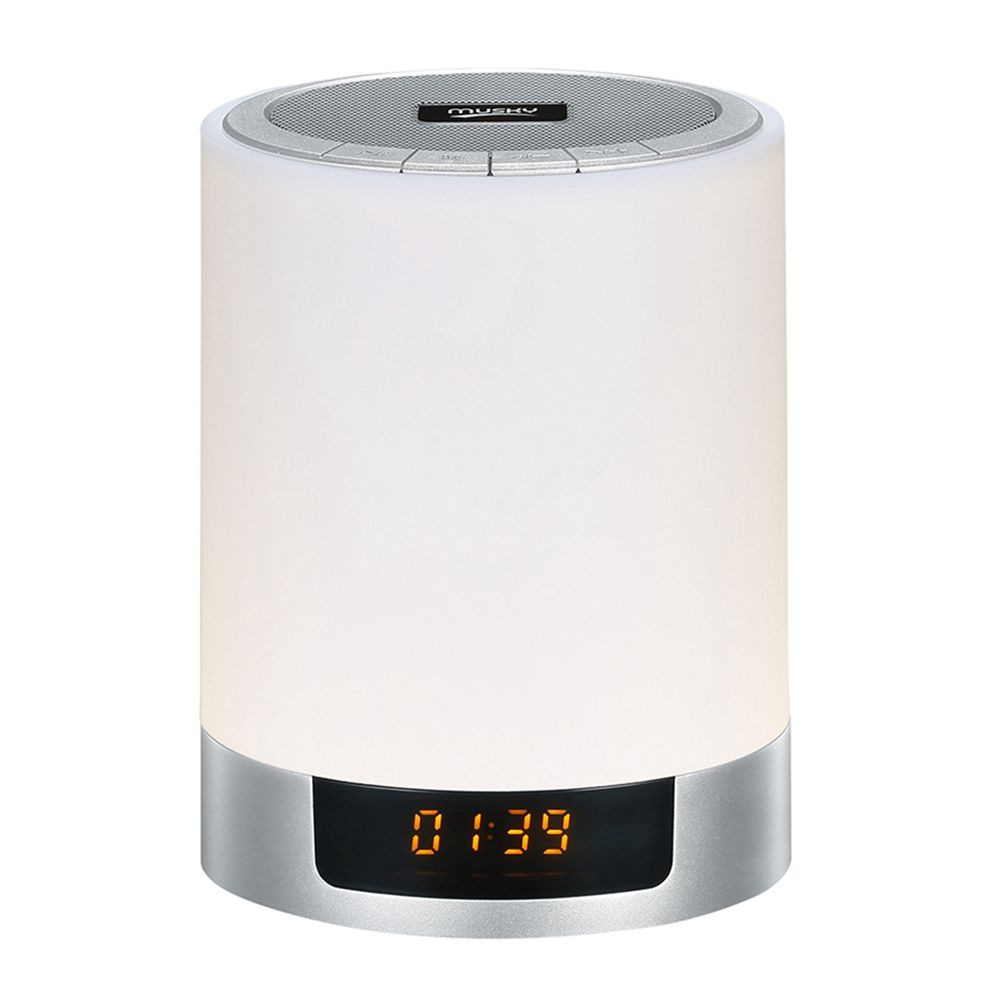 Night Lights Bluetooth Speaker,Bedside Lamp Touch Control Alarm Clock Color LED Color Changing Wireless Speaker with Lights US