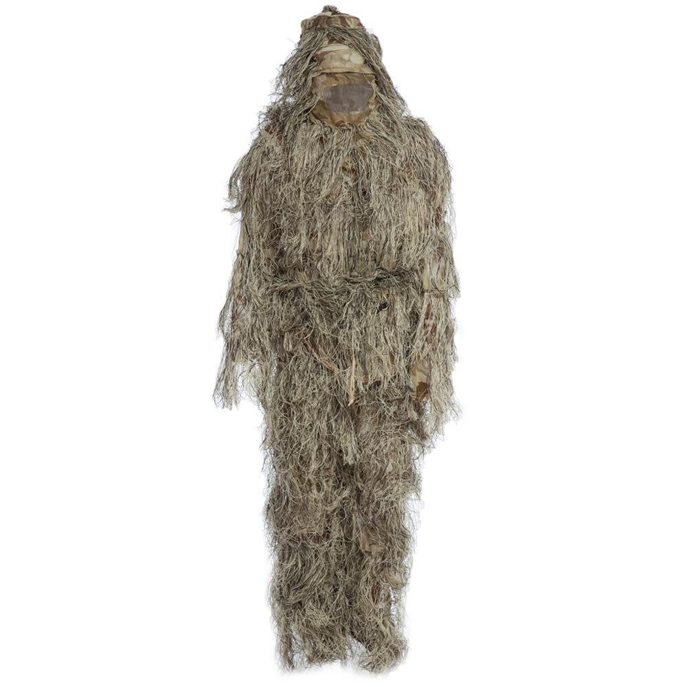 Chasse Ghillie costume Camouflage costumes ensemble 3D bionique feuille chasse déguisement uniforme Jungle militaire Train extérieur chasse tissu