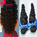 8A Brazilian Virgin Hair Loose Wave 4Bundles Unprocessed Loose Wave Virgin Human Hair Extensions Brazilian Hair Weave Bundles