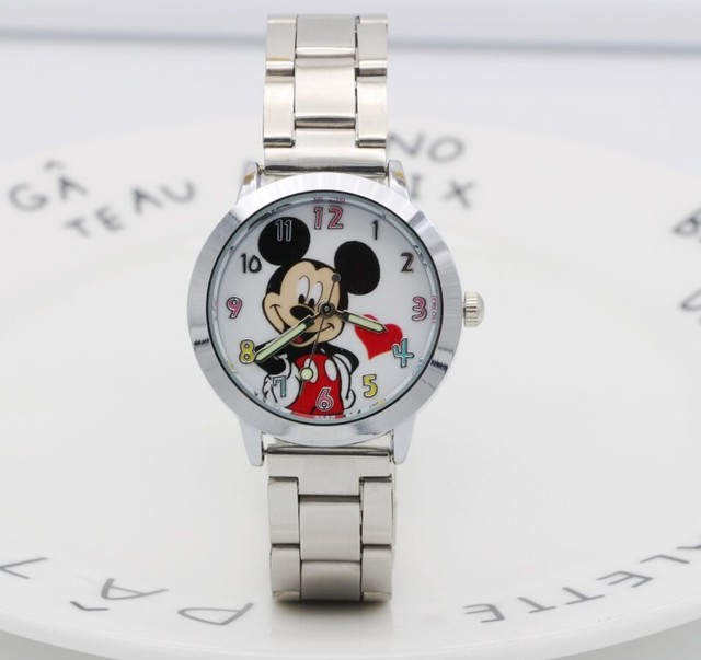 2018 Mickey mouse Watch ladies Stainless Steel Women Watches Cartoon Mouse Clock
