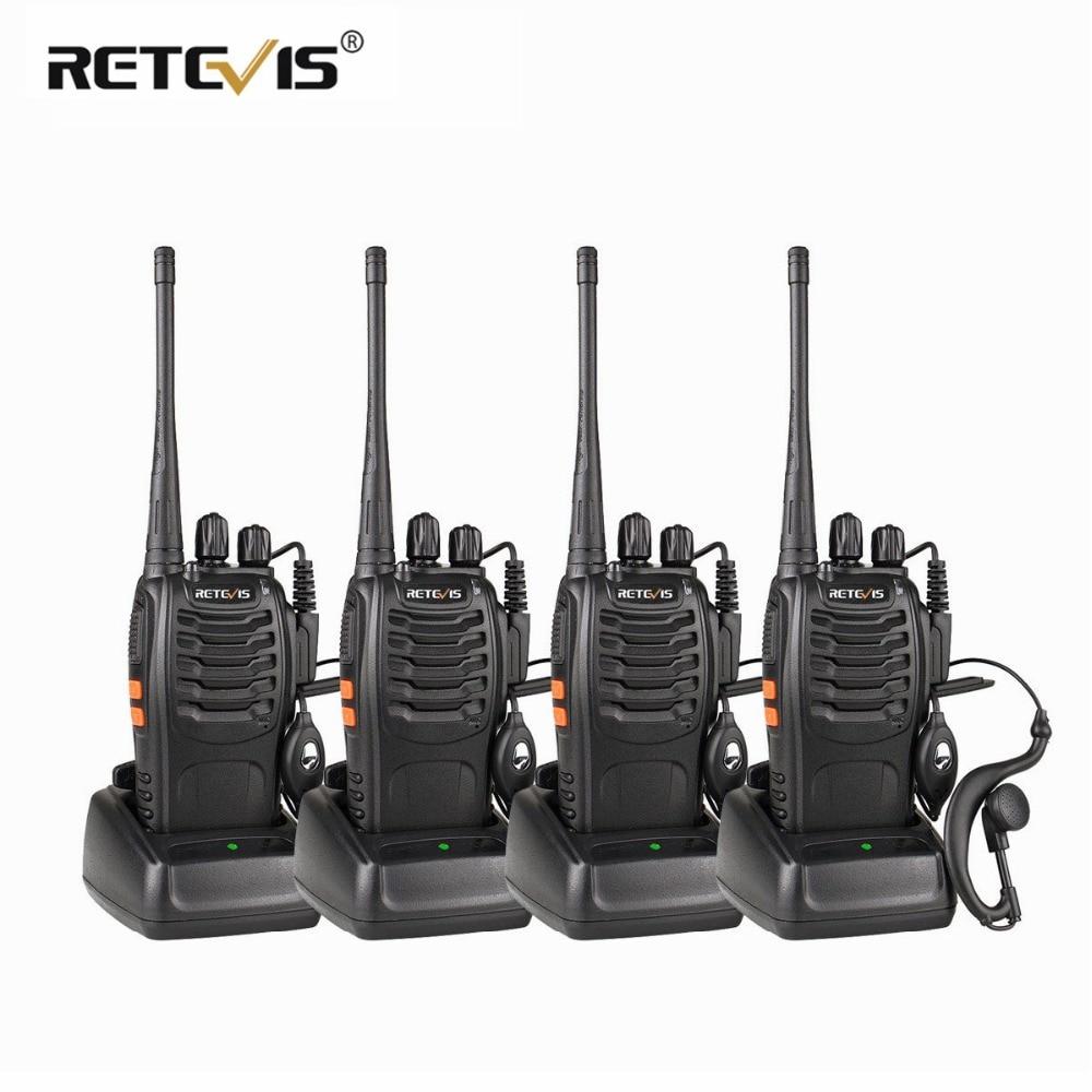 4 pièces talkie-walkie portables Retevis H777 UHF Hf Émetteur-Récepteur Deux Voies Radio Communicateur deux-Way Radio Talkie-walkie h-777