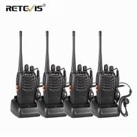 4pcs Portable Walkie Talkie Retevis H777 16CH UHF Ham Radio Hf Transceiver 2 Way cb Radio Station Communicator Walkie Talkie Set