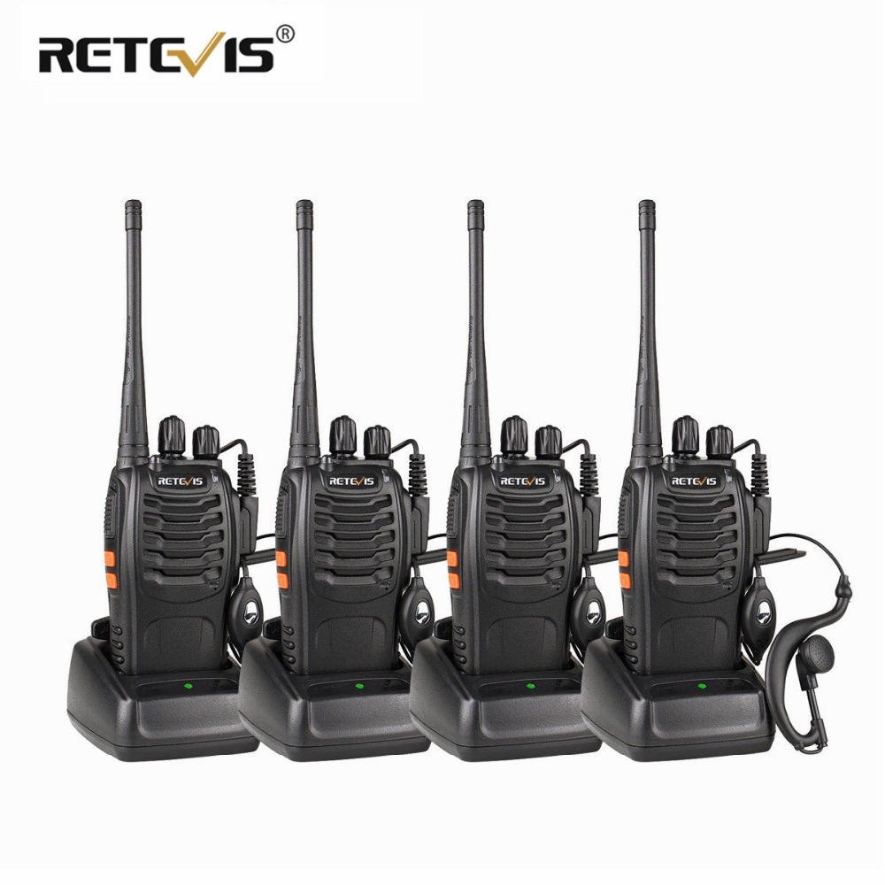 4st bärbar Walkie Talkie Retvis H777 UHF Hf Transceiver Tvåvägs radiostation Communicator tvåvägs Radio Walkie-Talkie H-777