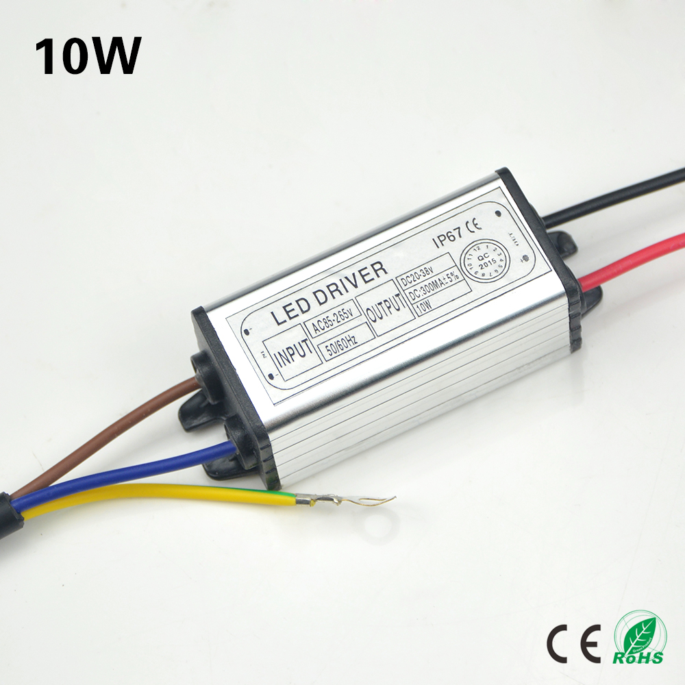 85v 265v to 20 38v 10w 300ma led driver adapter transformer switch power supply ip67 for. Black Bedroom Furniture Sets. Home Design Ideas