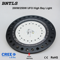 250W UFO LED High Bay Lighting, Daylight White(6000 6500K), Commercial Industrial Chandelier, for Factory, Work shop