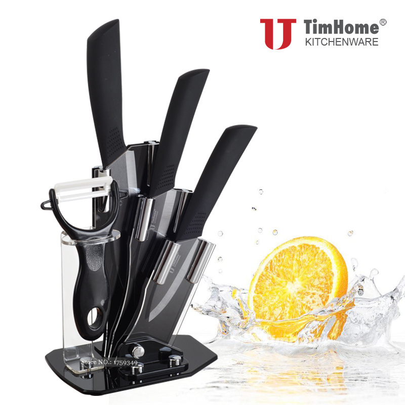 Black Blade Ceramic Knife Set 3