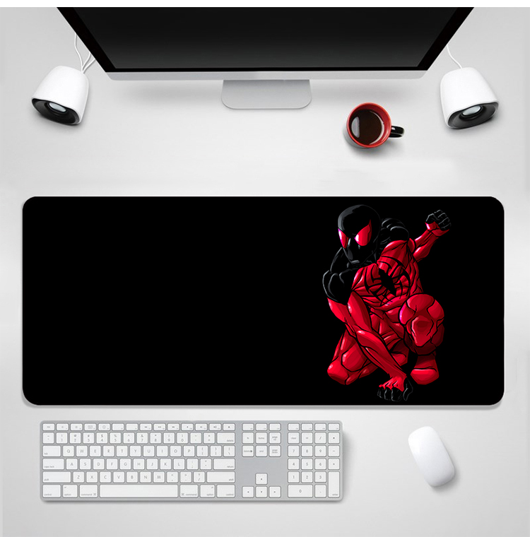 YIMAOC Marvel Spiderman Mouse Pad 30x80 cm Computer Mousepad Anti slip Natural Rubber Gaming Mouse Mat in Mouse Pads from Computer Office