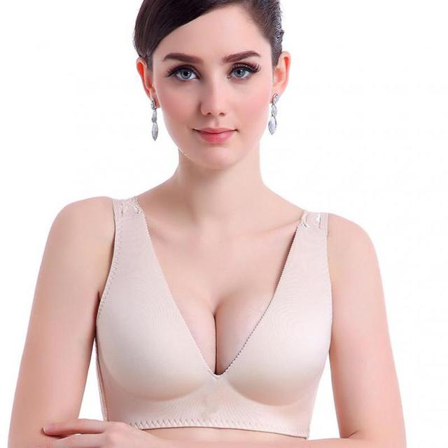 Lace Bralette Bras For Women Wirefree Seamless Bralet 2017 Full Cup Solid Super Push Up Bra Sexy Lingerie Hot Sale Plus Size 90C