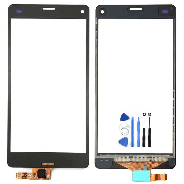 Vannego Free Shipping  For Sony Xperia Z3 Compact Z3 mini D5803 D5833 Touch Screen Digitizer Sensor Front Glass Lens with Tools