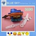 O Envio gratuito de 20 PÇS/LOTE SG90 9g Mini Micro Servo para RC de RC 250 450 Helicóptero Avião Carro 100% original novo