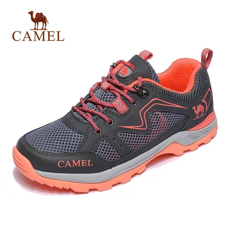 CHAMEAU Femmes maille extérieure chaussures de randonnée respirantes Non-glisser Durable Anti-impact Voyage Trekking Randonnée chaussures de trail