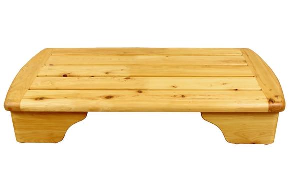 Solid wood step pads bathroom stool slip-resistant headblock cedar wood foot pedal steps bath stair stool