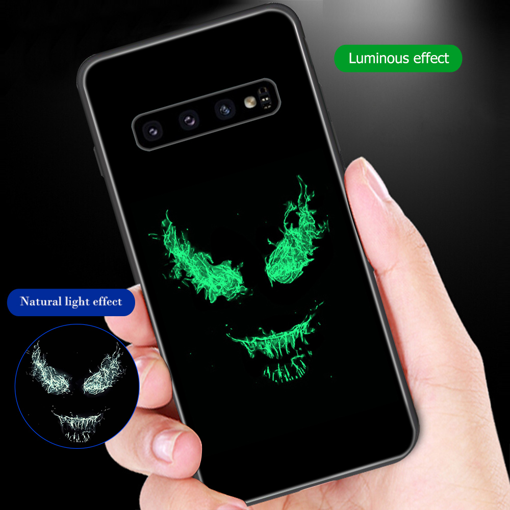 ciciber Marvel Venom For Samsung Galaxy S10e S10 S9 S8 Plus S10+ S9+ S8+ Phone Cases for Samsung Note 9 8 Tempered Glass Cover-in Fitted Cases from Cellphones & Telecommunications