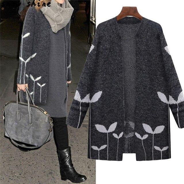 Snowshine #3001 Женщин Откройте Переднюю вязание Пальто Длинный Плащ Куртки Пальто Кардиган Водопад бесплатная доставка оптовая