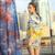 Mulheres de luxo Define 2016 Nova Verão Cloark Impressão Moda de Manga Comprida alta Qualidade Borla Novidade Tops + Short Slim Calças Bolsos terno