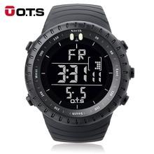 OTSนาฬิกาข้อมือผู้ชายกีฬานาฬิกา 50Mกันน้ำขนาดใหญ่นาฬิกาLEDกลางแจ้งนาฬิกาข้อมือส่องสว่าง