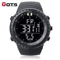 OTS Digital Watch Men Sports Watches 50M Waterproof Large Dial Clock LED Outdoor Military Luminous Wristwatches
