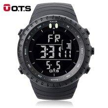Otsデジタル腕時計メンズスポーツ腕時計 50 メートル防水大型ダイヤル時計led屋外軍事発光腕時計