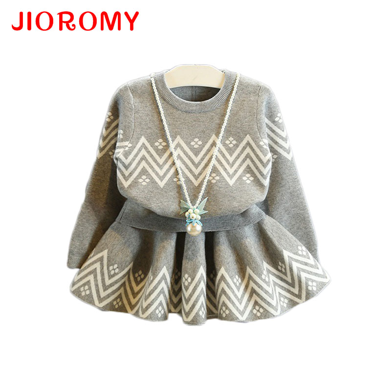 2017 spring autumn kids clothing sets litter girl sweater tops and skirt set suits children clothes set suits girls tracksuits 2016 autumn and spring new girl fashion cowboy short jacket bust skirt two suits for2 7 years old children clothes set