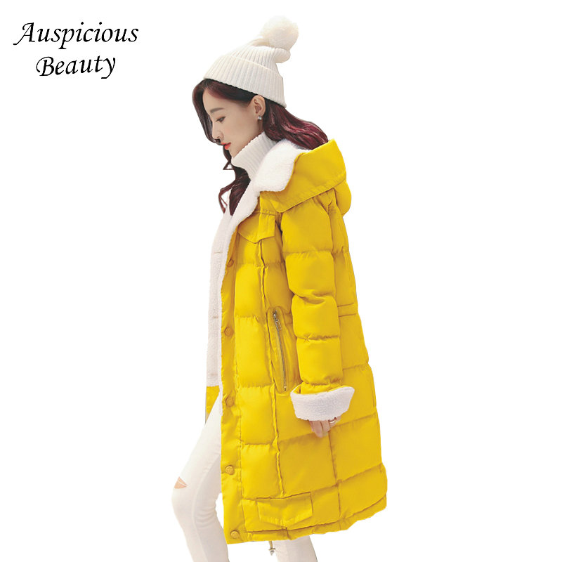 New Arrival Women Winter Coat Cashmere Cotton Jacket Pure Color Wide-waisted Female Outerwear Hooded Thick Warm Parka CXM268 3 colors l 2xl 2015 new women winter down cotton padded coat female long hooded wide waisted jacket zipper outerwear zs247