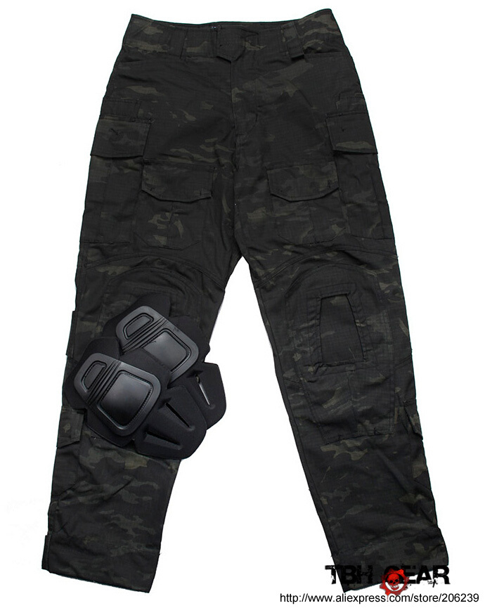 TMC G3 Combat Pants W/ Knee Pads Night Camo Multicam Black Law Enforcement Tactical Pants+Free shipping(SKU12050486) tmc l9 tactical combat pants multicam with knee pads original multicam fabrics free shipping sku12050812