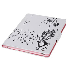 ocube 100pcs/lot Cat Eye Girl Butterfly Bear Flower Print Pattern PU Leather Case Cover For Apple iPad 2 3 4 9.7″ Tablet