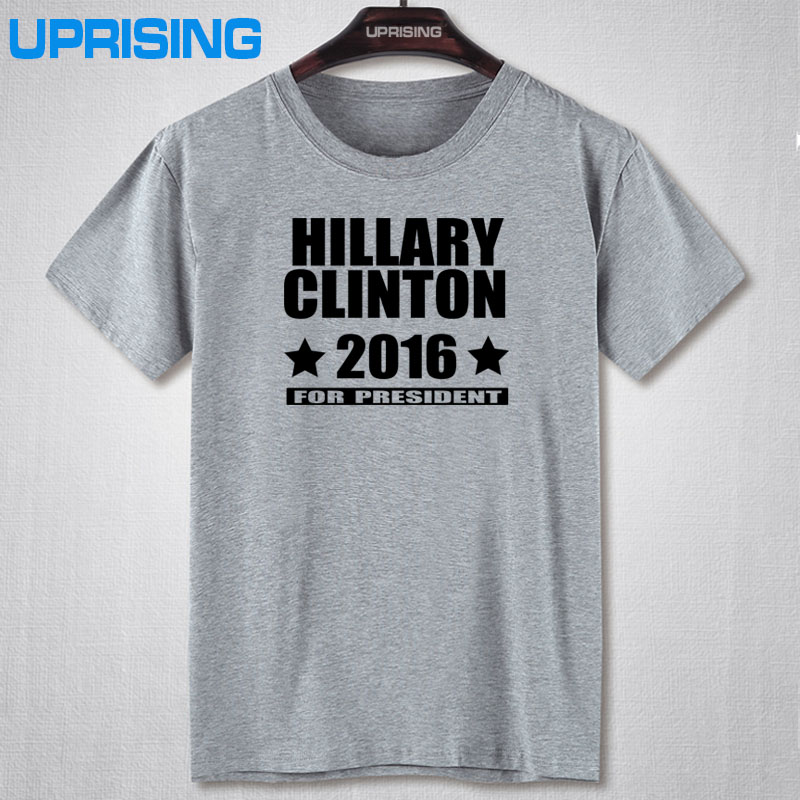 UPRISING casual Style Hillary Clinton for President Election Republican Democrat Design Cotton Slim Fit Short Sleeve T-shirts