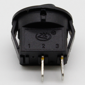 Image 2 - 5* Small Round Black 2 Pin 2 Files 3A/250V 6A/125V Rocker Switch Seesaw Power Switch