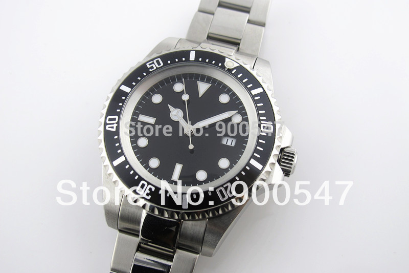 43mm Rotating Bezel Sterile Dial 2813 Automatic Stainless Steel Bracelet Watch - wo shi ni ye store