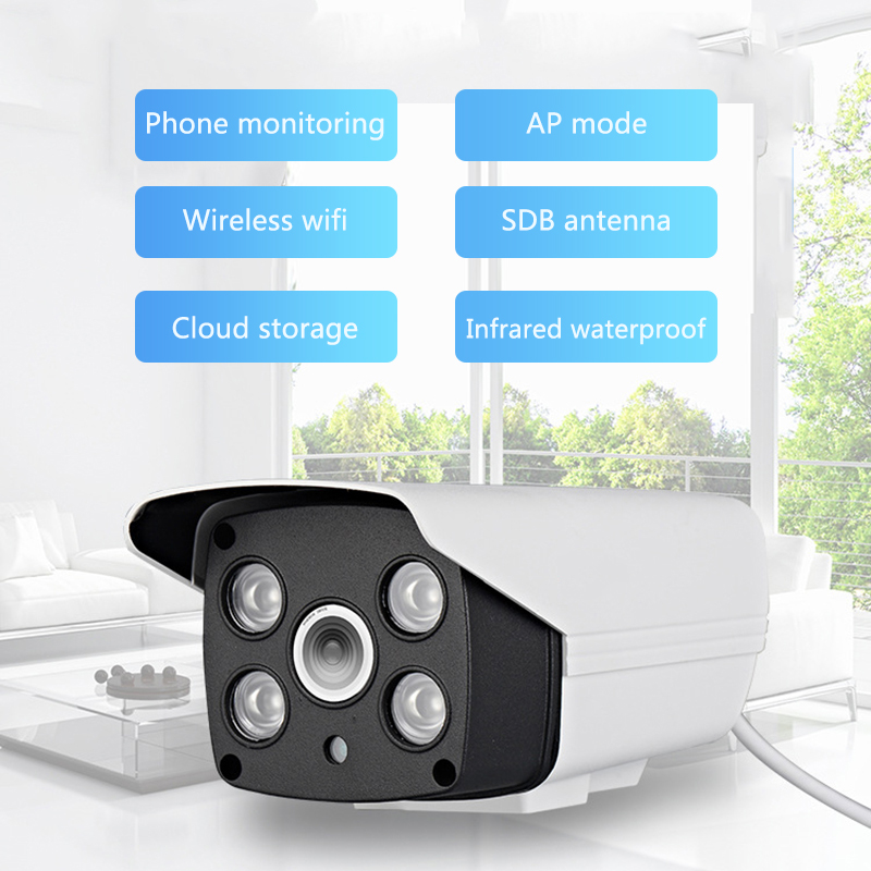 Smart Wireless Wifi Mobile Phone Remote Home Monitor Outdoor HD Night Vision Network Surveillance Camera million hd network camera mobile phone wireless surveillance camera night vision wifi mobile detection