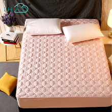Mattress Protector Cover For Bed Wetting Anti-mite sanding fabric bed mattress cover pad protector sueding padded non-slip bed