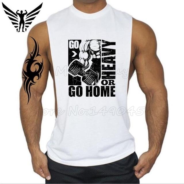 Muscleguys Brand Go Heavy Or Go Home design men\'s vest bodybuliding ...