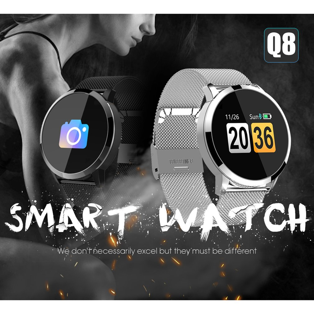 Q8 Smart Watch OLED Color Screen Smartwatch Women Fashion Fitness Tracker Heart Rate Monitor Smartband Sport Watch Men ClockQ8 Smart Watch OLED Color Screen Smartwatch Women Fashion Fitness Tracker Heart Rate Monitor Smartband Sport Watch Men Clock